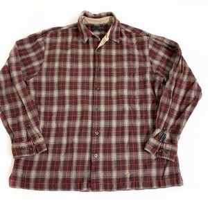 Royal Robbins Flannel Shirt Top Button Front Large